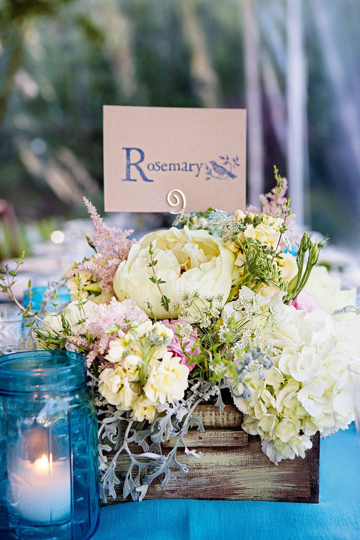 Read More: http://www.stylemepretty.com/little-black-book-blog/2014/06/06/mint-yellow-backyard-wedding/