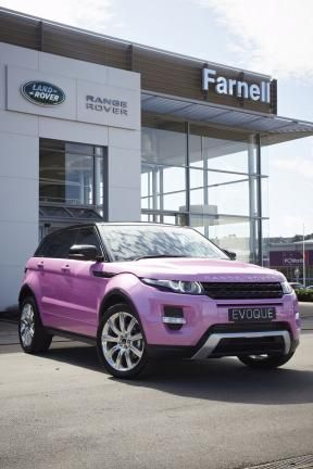 The pink Evoque