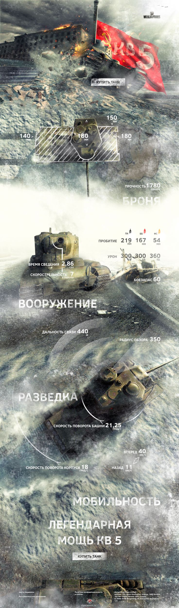 Soviet KV 5 site layout photoshop collage landing pages game