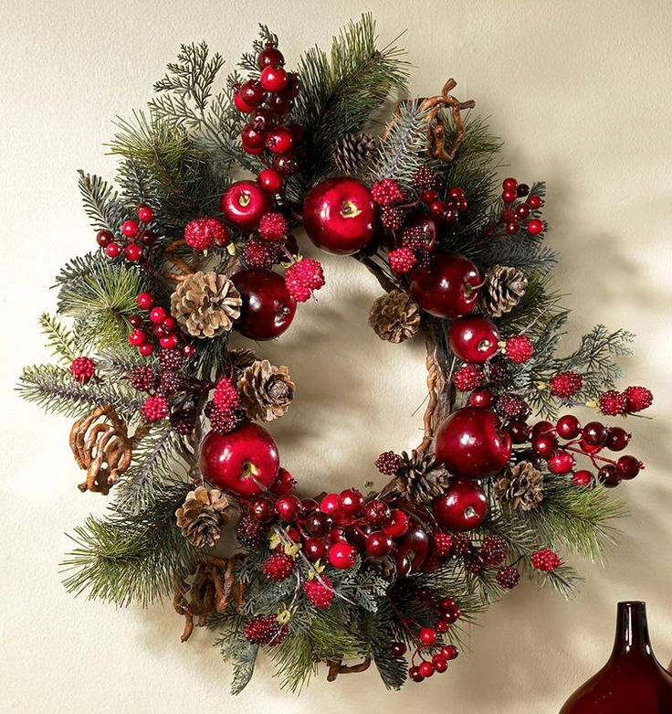 25 Best Images About Christmas On Pinterest Yarn Wreaths Door Wreaths And Magnolias