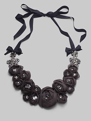 rosette bib necklace----picture only