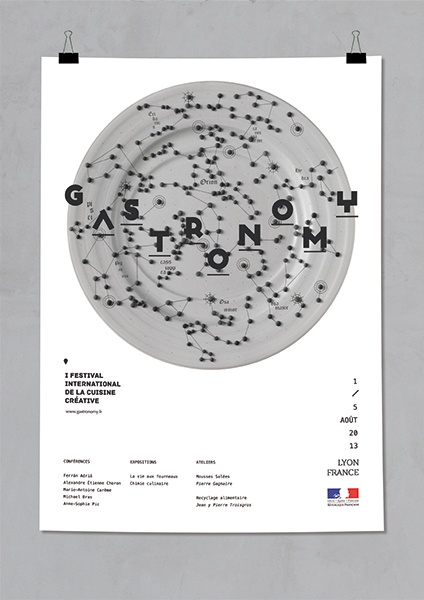 Gastronomy poster  Fran Alonso.  SPAIN.  2013