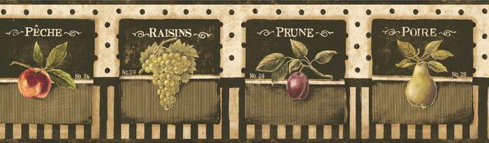Vinilo decorativo Cenefa Frutas