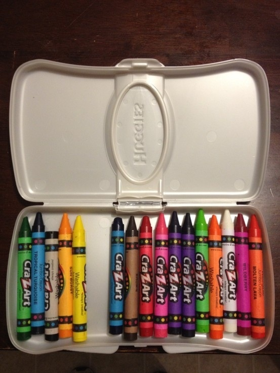 Crayon Holder!  Maybe jazz it up and put a notebook in the top