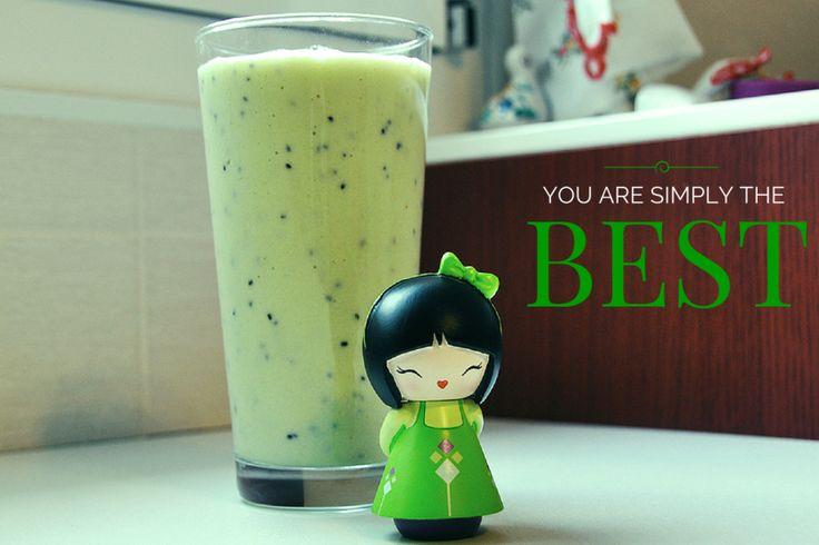 Smoothie verde #green #apple #kiwi #mela #smoothie #frullato #dieta #light #detox