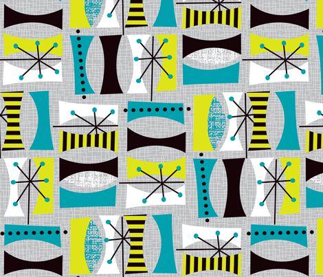 Mod Leaves fabric by celiaforrester on Spoonflower - custom fabric