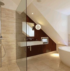 Loft conversion bathroom google search kitchens for Loft bathroom ideas