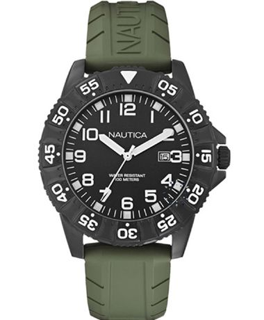 NAUTICA NSR 103 Khaki Rubber Strap Η τιμή μας: 126€ http://www.oroloi.gr/product_info.php?products_id=38340