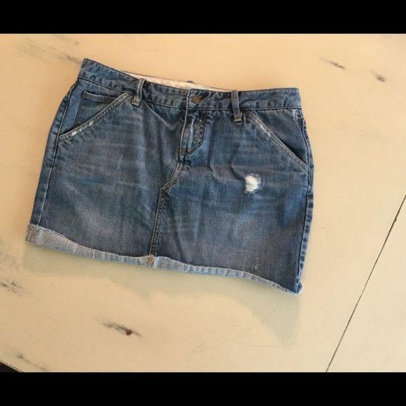 X2 Denim Laboratory distressed jean skirt sz 8 Distressed denim skirt sz 8 X2 Denim Laboratory Skirts