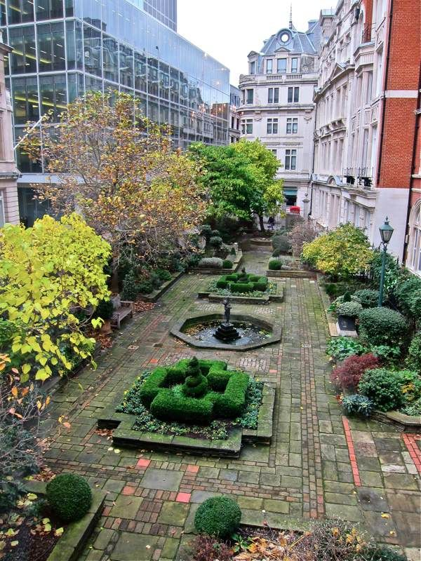 The last remnant of Thomas Cromwell's garden; Drapers Hall, Spitalfields, London.