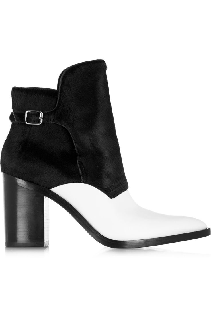 Shop on-sale Alexander Wang Clarice calf hair and leather ankle boots. Browse other discount designer Boots & more on The Most Fashionable Fashion Outlet, THE OUTNET.COM