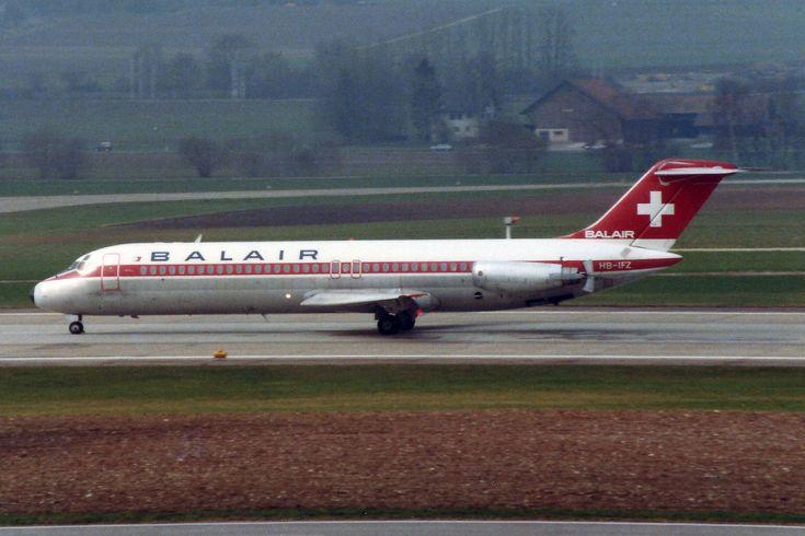 https://flic.kr/p/yf1njs | Balair McDonnell Douglas DC-9-32 HB-IFZ | Zürich (- Kloten) (ZRH / LSZH) 4.1984