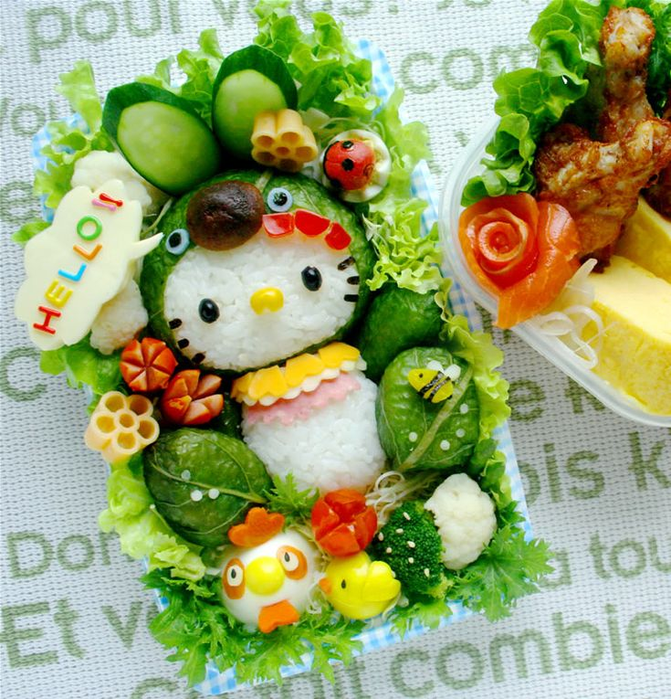Bento Hello KittyFun Food, Bento Boxes, Bento Lunch, Lunches Boxes, Hellokitty, Kids, Food Photos, Food Art, Hello Kitty