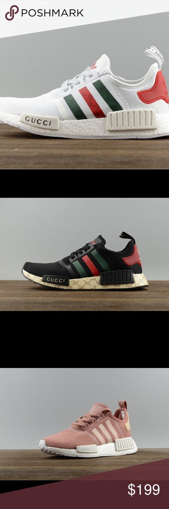 NMD adidas NMD fashion sneaker shoes Gucci New, comes with box.    ————————————————— Men mens womens women nike vans converse adidas puma roshe air max athletic sports white pink black purple evening heel high heeled flat feet leather ankle boots wedge free run shoes sneakers Nike, Jordan, KD, Lebron, Foamposite, SB, Fly, Max adidas Shoes Sneakers
