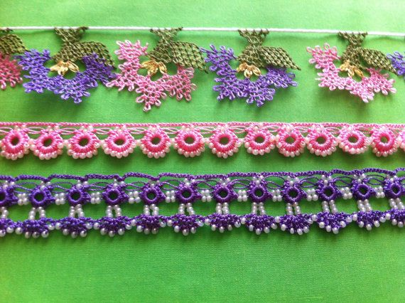 Purple and Pink assorted bead and needle von AnatolianCollections