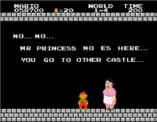 No no no mario princess no here