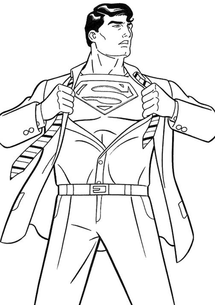 Free & Easy To Print Superman Coloring Pages in 2020 ...
