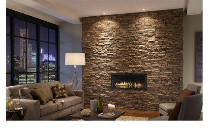 Des parements muraux en fausse pierre brique pinterest for Fausse pierre interieur