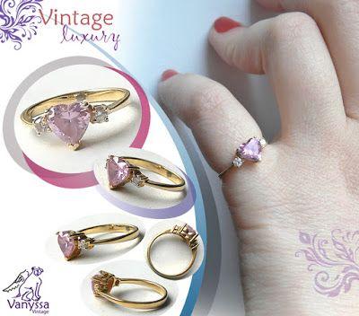 Vanyssa Bijuu Vintage: Inel Vintage Adorabil, creat in din anii 80, decor...