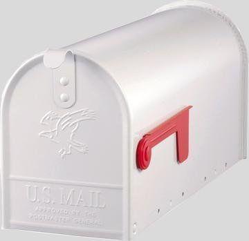 """Carl & Ellie Wedding card Box!! Original US-Mailbox Elite, Stahl """"Made in USA"""", weiß - US Mailbox von Deko-Siems, http://www.amazon.de/dp/B004E6RNG0/ref=cm_sw_r_pi_dp_oGzktb17WWTKH"""