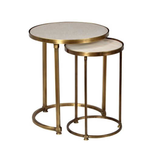 Marble & Brass nesting tables $395