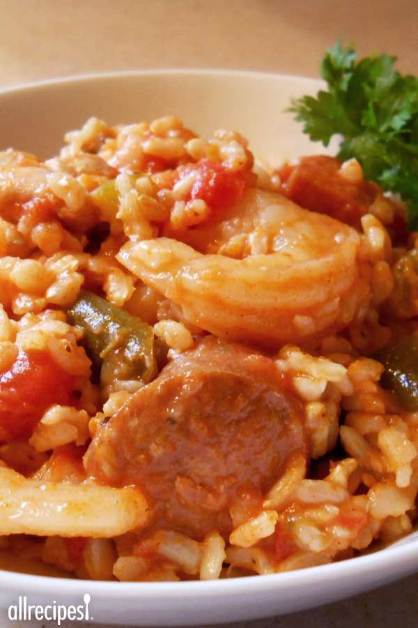 """Oven Baked Jambalaya   """"Impress your family and friends when you serve this classic and flavorful Creole dish and best of all, it's easily made in the oven."""""""
