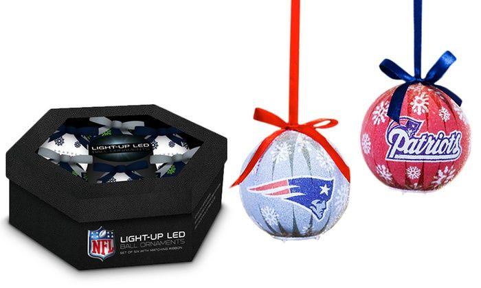NFL LED Christmas Ornaments (6-Pack): NFL LED Christmas Ornaments ...