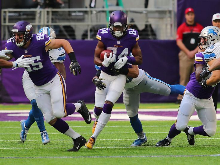 Lions vs. Vikings:  22-16, Lions  -  November 6, 2016  -    Vikings receiver Cordarrelle Patterson is tackled during a kick return against the Lions in the first quarter Nov. 6, 2016 at US Bank Stadium in Minneapolis.  Adam Bettcher, Getty Images