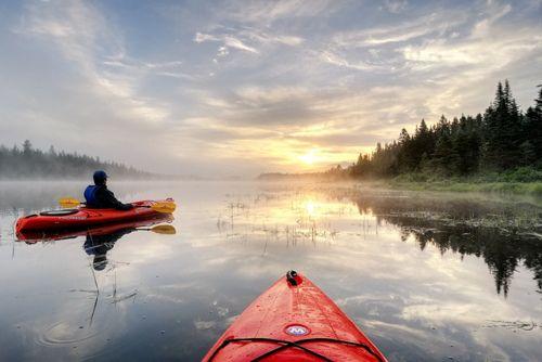 kayak + lake