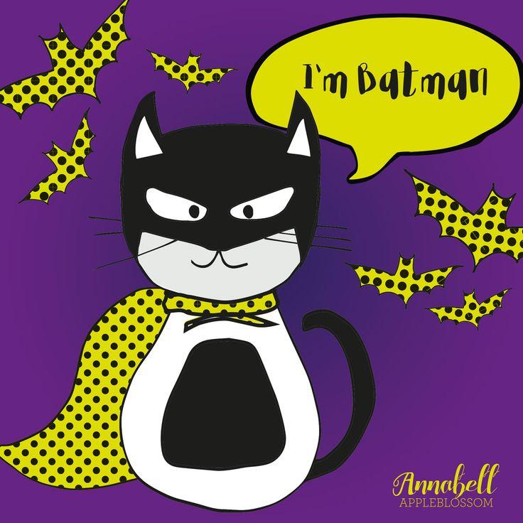 I'm Batman Halloween Illustration