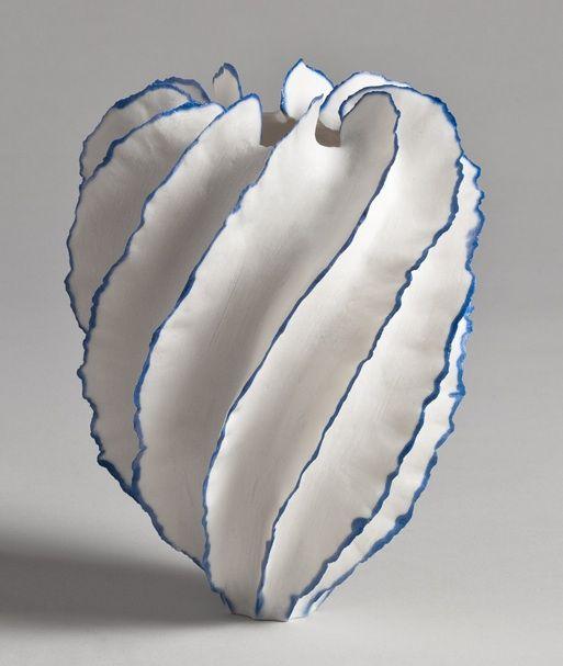 Sandra Davolio: Vase, Sculpture, Stuff, Blue, Davolio Ceramics, Ceramic, Art Ceramics Pottery Porcelain, Pottery Ceramics