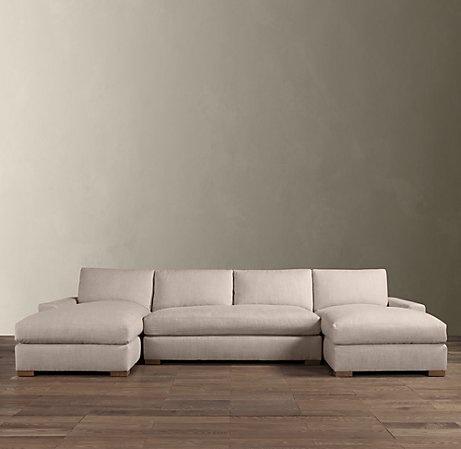 13 best images about living room on pinterest house for U shaped sectional sofa restoration hardware