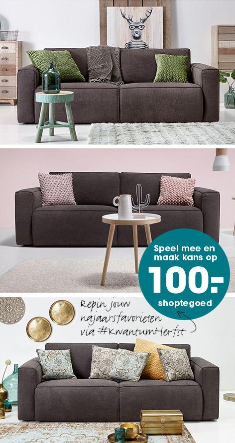Wat zijn jouw herfstfavorieten van Kwantum? Maak een bord aan genaamd #KwantumHerfst, pin daar vanaf dit bord minimaal 5 producten op met #KwantumHerfst en maak kans op 100,- shoptegoed van Kwantum! Hier vind je de actievoorwaarden: www.kwantum.nl/najaarsactie.
