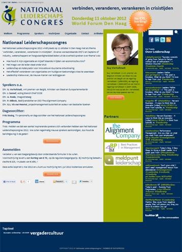 Inschrijven op Leiderschapscongres 12 oktober 2012: www.nationaalleiderschapscongres.nl