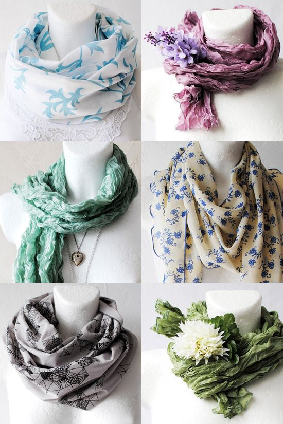 "Courtesy of White Moth, via One Fine Dae, ""cute summer scarves"""