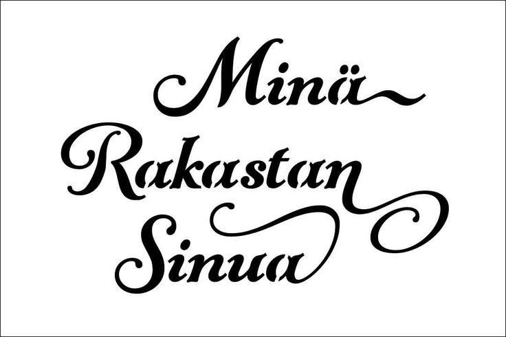 Mina Rakastan Sinua on 6x4 or 6x3  or 6x2 inch laser-cut stencil by PearlDesignStudio on Etsy
