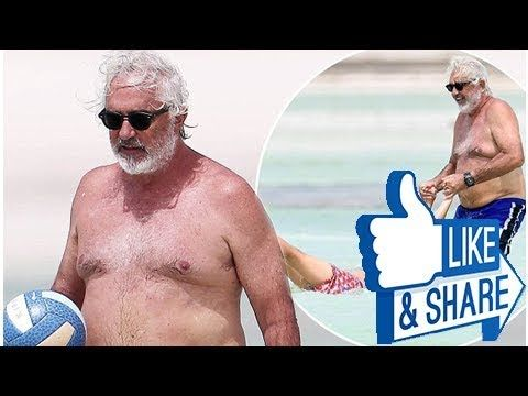 Shirtless Flavio Briatore 67 looks relaxed and happy as he enjoys quality time with his son Falco