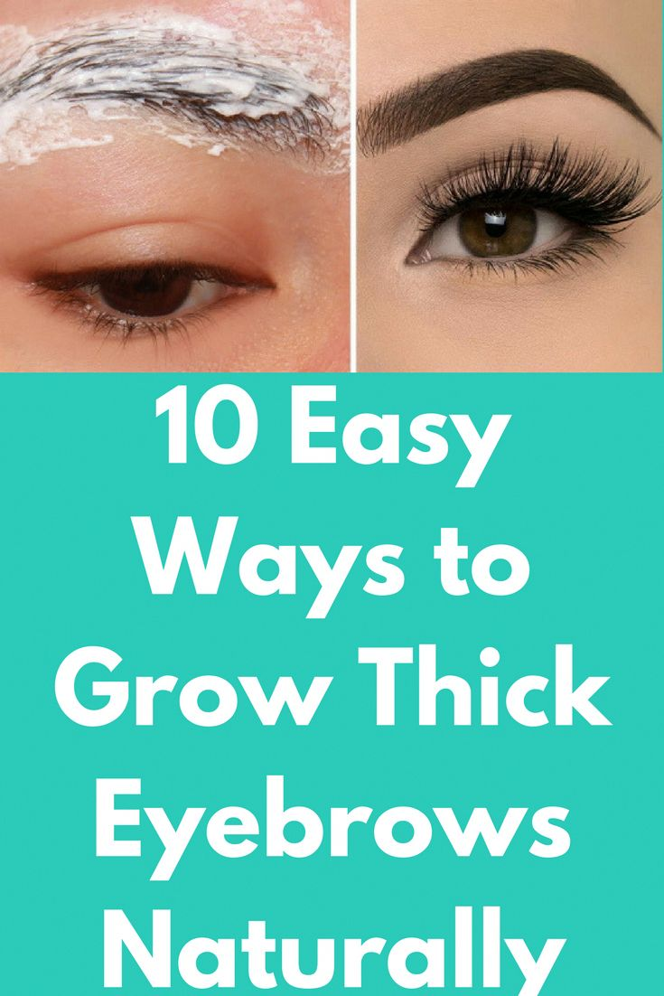 10 Easy Ways to Grow Thick Eyebrows Naturally Thick ...