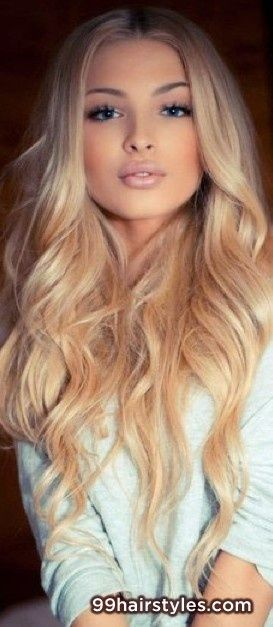 beautiful long layered blonde hairstyle with bangs - 99 Hairstyles Ideas