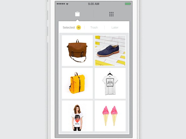 Mobile E-Commerce Website User Experience and User Interface Design Animation #UI #UX #GIF