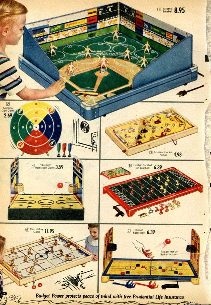 vintage sports themed board games from a 1955 spiegel. Black Bedroom Furniture Sets. Home Design Ideas