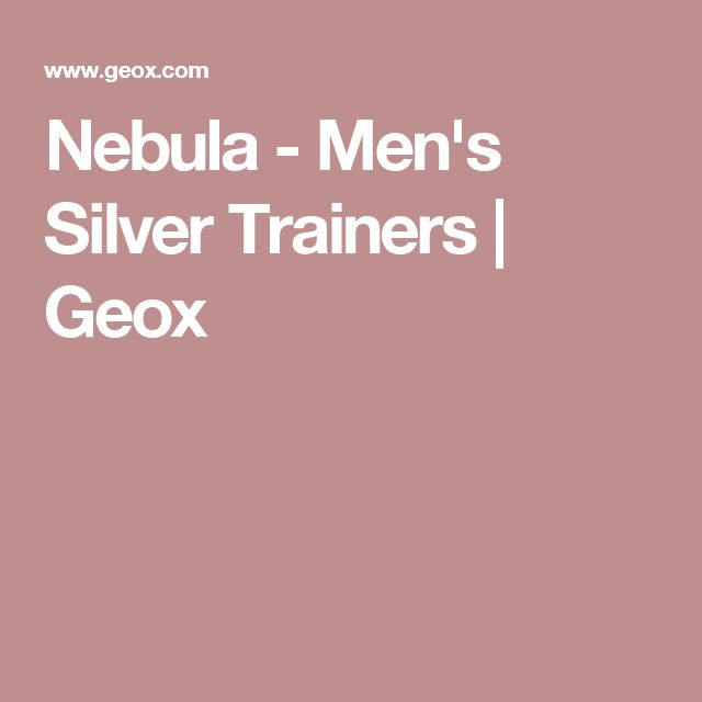 Nebula - Men's Silver Trainers | Geox