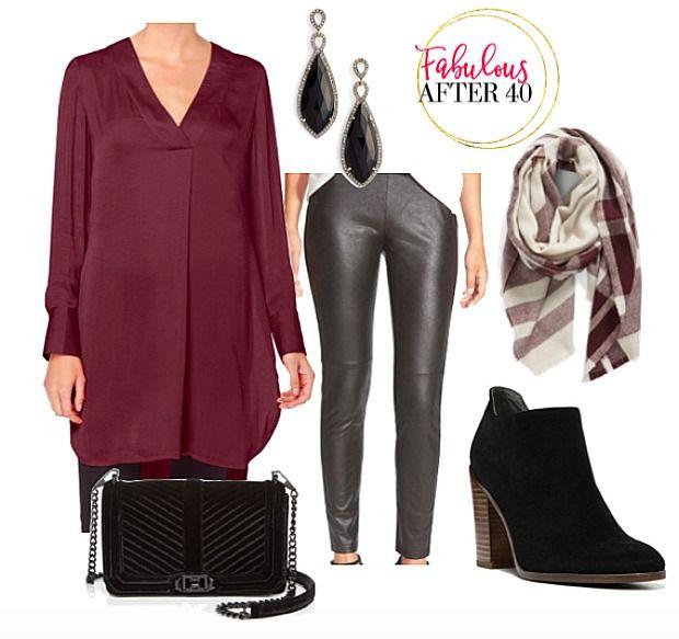 tops-for-leggings-maroon-silk-blouse