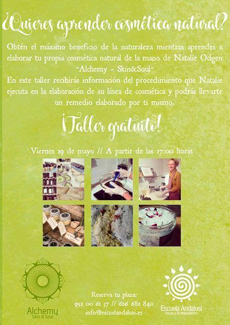 Escuela Andalusí |        Taller gratuito de Cosmética Natural, 19 de mayo