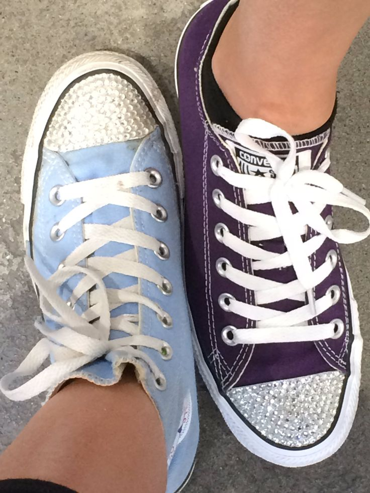 Custom Converse Shoes. Custom Made Converse Shoes. Converse Blinged Shoes