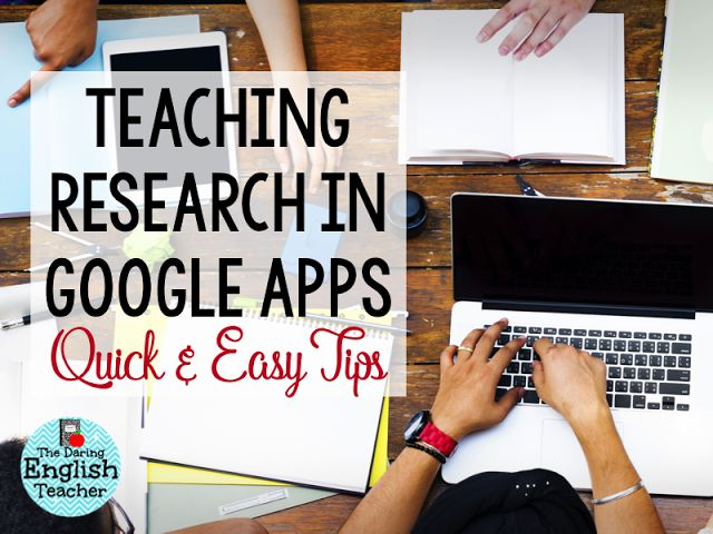 The Daring English Teacher: Using Google Apps for Research