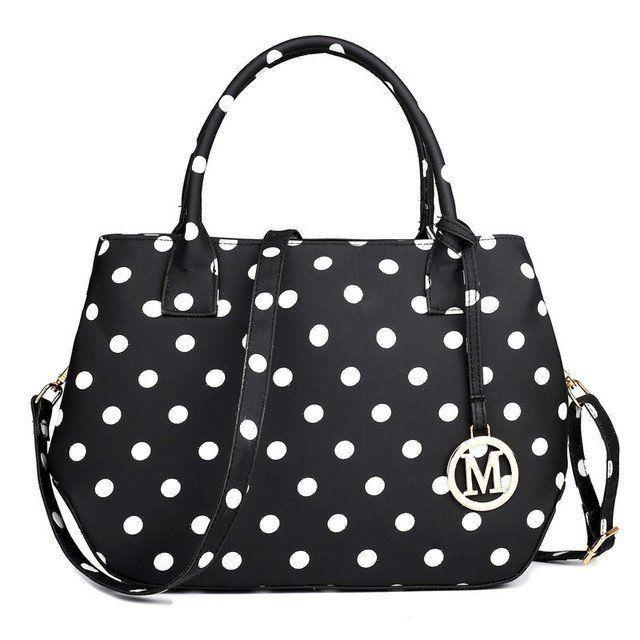 Vintage Ladies Polka Dot Shoulder Bag