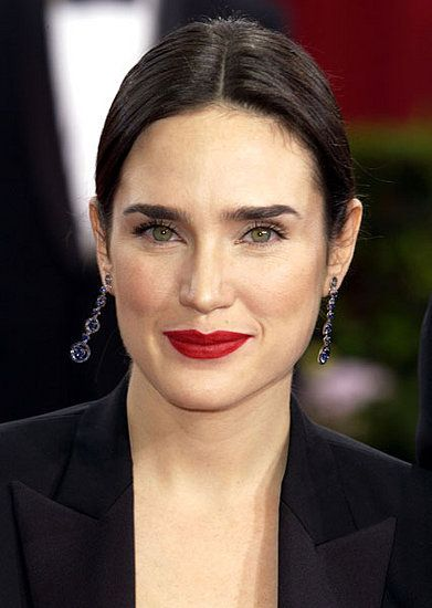 Love red lips on a darker brunette.