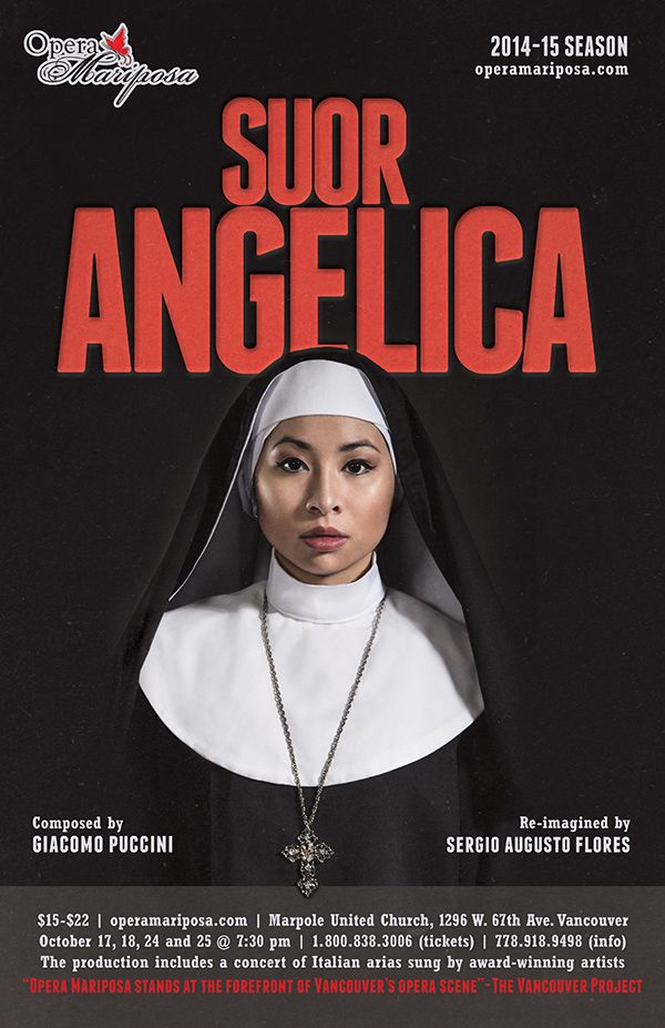 Enter to win 2 tix to Opera Mariposa's Suor Angelica! Contest closes October 9, 2014 at 4:00 pm.