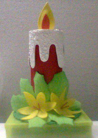 candela hecha en foami
